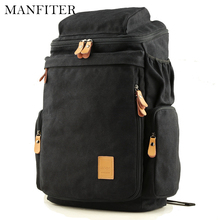 "Buy MANFITER 2017 New Mens Canvas Backpacks School Bags Vintage Backpack School 14"" Laptop Bagpack Travel Rucksack Mochila Escolar for $32.32 in AliExpress store"