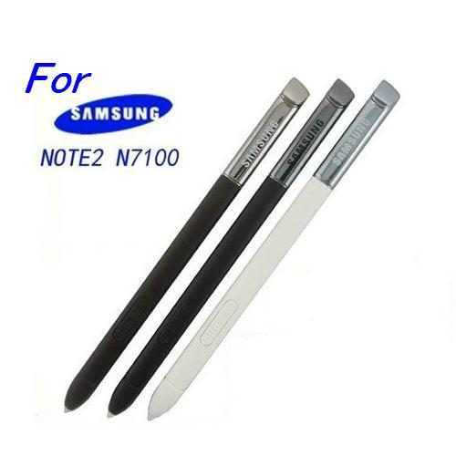 100%New High Quality Replacement Stylus Touch Screen Capacitive Pen For Samsung Galaxy Note 2 N7100 Black/White 2 Colors Choose(China (Mainland))