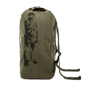 Tactical outdoor mountaineering backpack men bag camping women canvas bucket travel #SJJ2276 - Walking shoes store