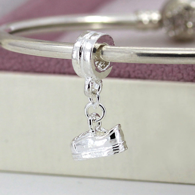 Free Shipping Silver Plated Bead Charms European Shoes Pendant Beads Fit Women DIY Pandora Bracelets & Bangles Jewelry H642