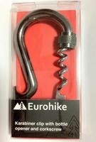 Multi function safety Eurohike Karabiner clip with bottle opener and corkscrew