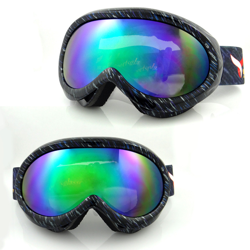 2015 Children Outdoor Ski Mountaineering Skiing And Snowboarding Goggles Anti Fog Wind Spherical Glasses Drop Shipping(China (Mainland))