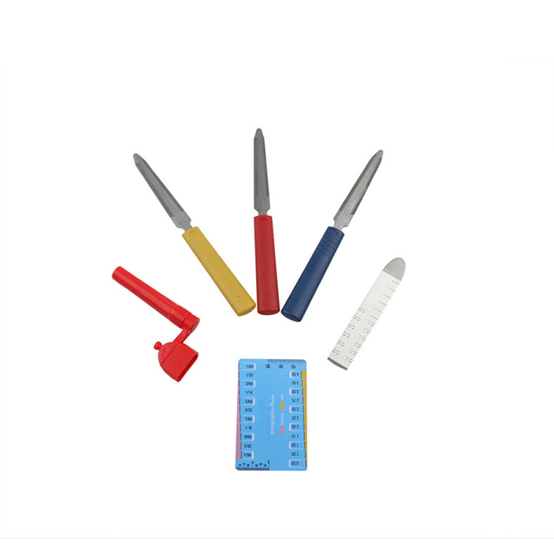 6 PCS Guitar Setup Kit Nut files/String Spacing Ruler/Action Gauge Luthier Tools E2shopping<br><br>Aliexpress