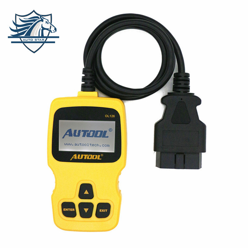 New Arival AUTOOL OL126 OBD/EOBD + CAN Auto Engine Diagnostic Tool Supports OBDII Compliant Cars Better than Autel AL319(China (Mainland))