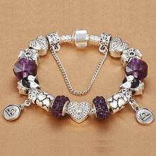 HOMOD Women's Jewelry 12 Zodiac Charm Bracelet for girls fit Pandora Bracelets Birthday Party Christmas gift(China (Mainland))
