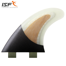 Insurfin Carbonfiber  Surfboard FinsThruster Fin Set (3) FCS Compatible Medium Surf Fin Bamobb(China (Mainland))