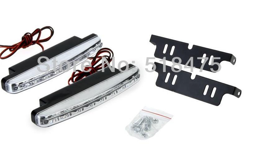 8LED daytime running light 100% waterproof white DRL LED - Car World Auto Parts CO.,Ltd store