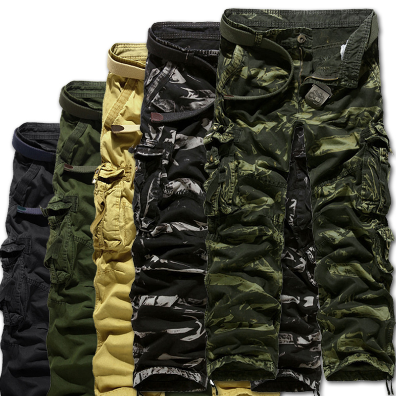 2014 New latest washing camouflage men's overalls men,Large size military uniform pants ,military cargo pants for men,M-4XL(China (Mainland))