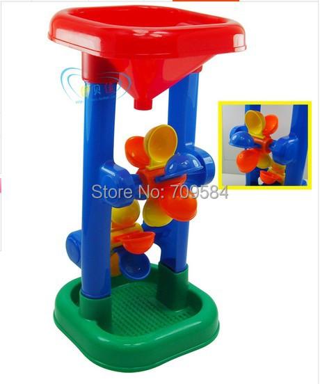 Package mail children beach toys/beach tandem mills/hourglass hourglass toys Bathing beach swimming toys(China (Mainland))