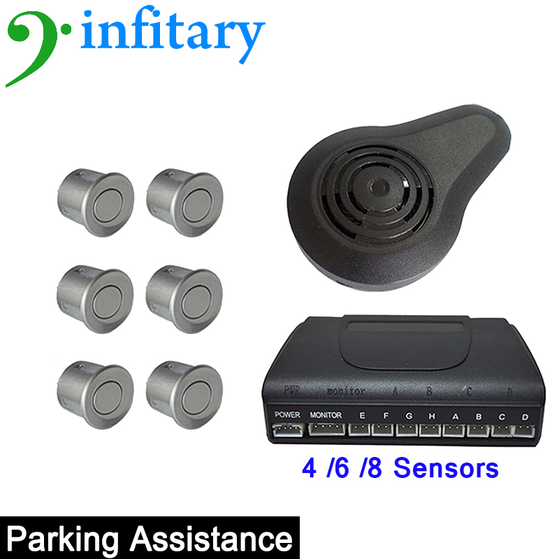 Car Parking Sensors Infitary 810B 4/6/8 Sensors 13 Colors support artificial automatic alarm and the probe self-test function(China (Mainland))