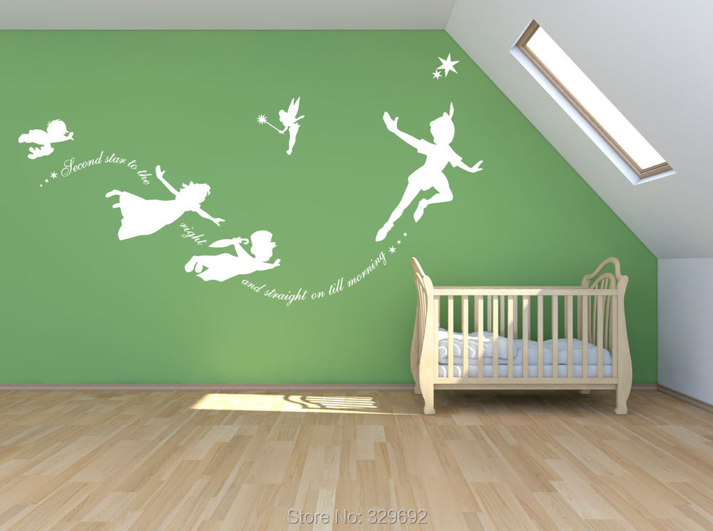 popular tinkerbell decorative wall stickers buy cheap aliexpress com acheter tinkerbell deuxi 232 me 233 toile 224