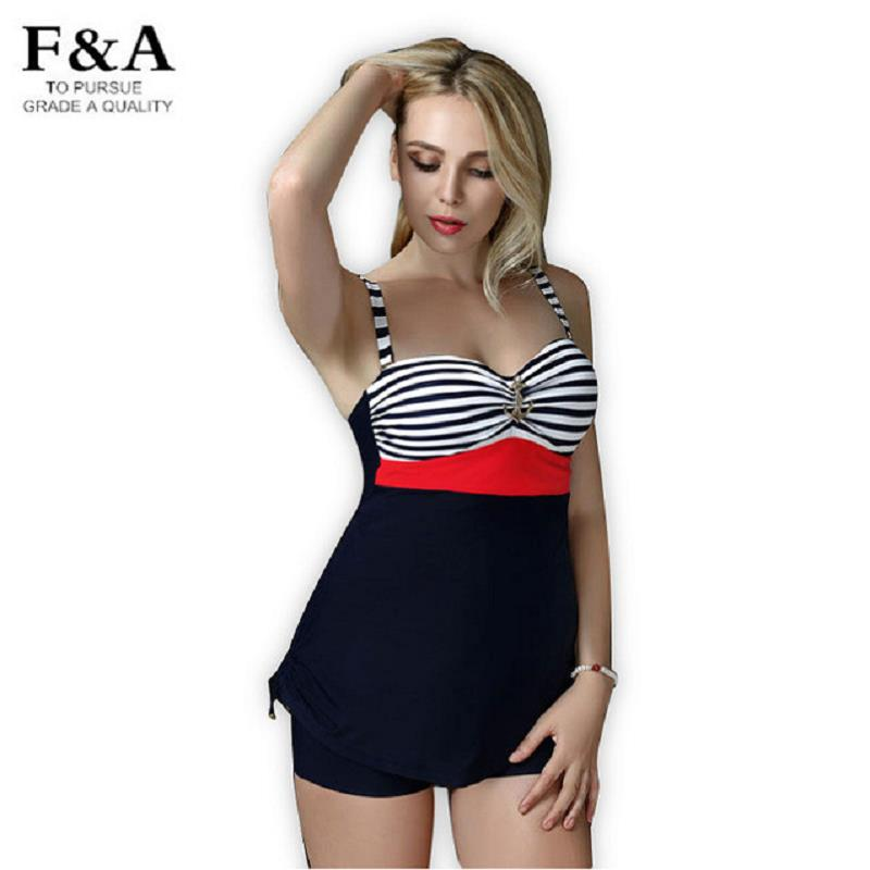 Brand Plus Size 5XL Striped Print Swimwear Women Beachwear ...