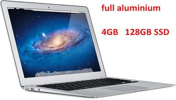"13.3"" ultrabook laptop computer aluminium case intel Celeron 1037U dual core 4GB  128GB SSD webcam WIFI  W/optional 8GB"