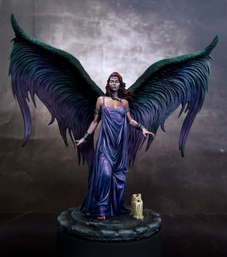 Resin Kits Scale Lilith angel beauty fantasy high 7cm Resin Model Free Shipping(China (Mainland))