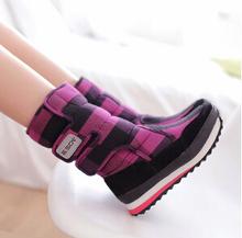 Venta caliente 2015 de invierno cálido mujer botas zapatos planos de espesor botas en tubo de nieve caliente botas cortas de Tartán ahora zapatos mujeres(China (Mainland))