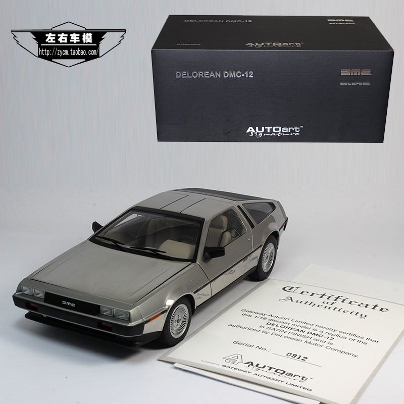 Brand New AUTOART 1/18 Scale USA DELOREAN DMC-12 Diecast Metal Car Model Toy For Collection/Kids/Decoration/Gift(China (Mainland))