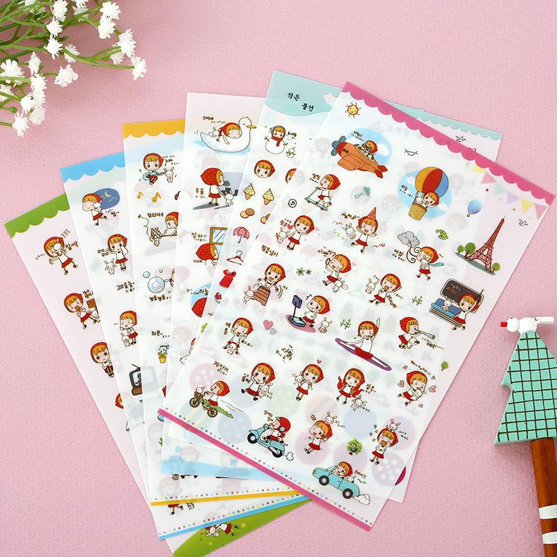 6  sheets/set vintage little Red Riding Hood diary deco Kawaii planner Sticker/note sticker/message sticker/wholesale<br><br>Aliexpress
