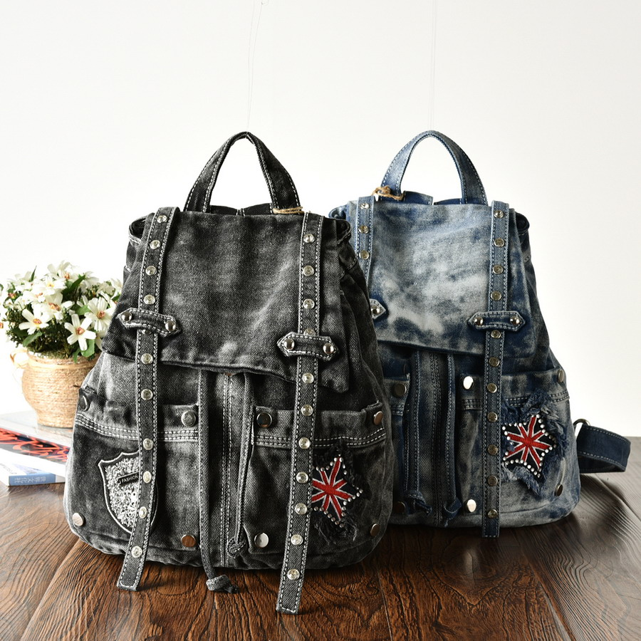 NEW Arrival 2015 Diamond Vintage Fashion Women Bag Backpacks Causal Girl Jeans Backpack Sports College Travel Denim Bags Outdoor<br><br>Aliexpress