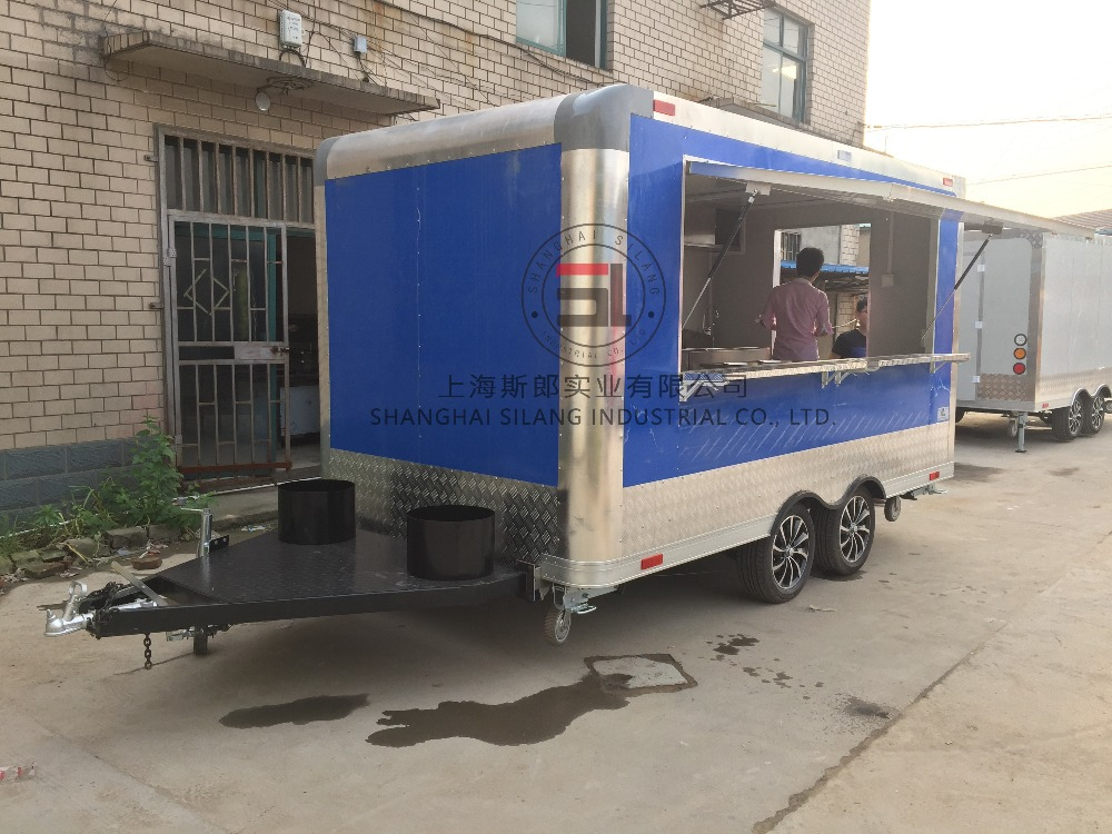 Blue NEW 8.5 X 16 16' ENCLOSED CONCESSION FOOD VENDING BBQ MOBILE KITC mobile food cart food trailer multi-function food trailer(China (Mainland))