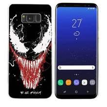Caso para Samsung Galaxy M20 M10 S10 S9 S8 Plus S7 S6 Nota Borda 8 9 Coque Capa Dura de Plástico limpar Shell Marvel Super Hero Venom(China)