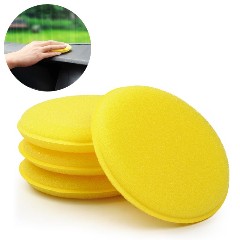 Car Wax Sponge 12 pcs/set Yellow Anti-Scratch Car Cleaning Tool Tyre Dressing Foam Car Care(China (Mainland))