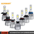 Auxmart H1 H4 H7 H11 H13 9005 9006 COB 72W LED Car Headlight Bulbs 6500K 8000LM