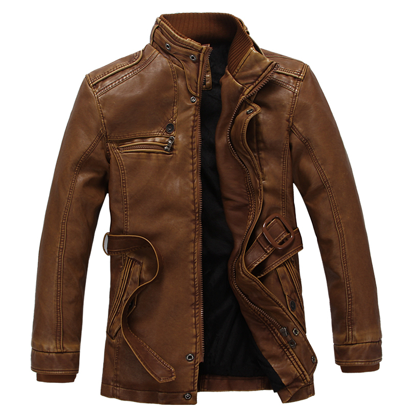 HOT!Winter Warm Motorcycle Leather Jacket Menu0026#39;s Casual Brand Jacket Luxury Fur Sheep Leather Men ...
