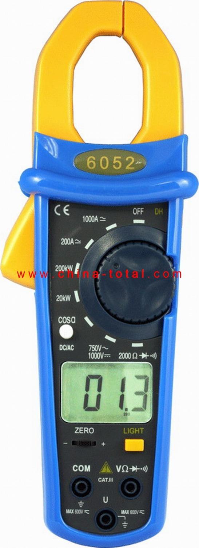 Courier Free Shipping! DT-6052 3 1/2 DIGITAL AC/DC POWER CLAMP MULTIMETER Digital multimeter AC DC Voltage Current Watt(China (Mainland))