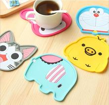 Free Shipping Cute Anime Silicone Coffee Placemat Cartoon Drink Coaster Cup mat Kitchen Accessories(China (Mainland))