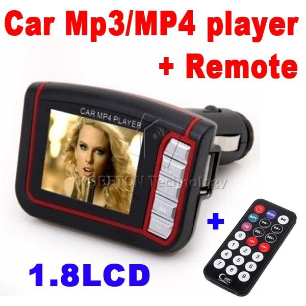 "Hot Wireless 1.8"" LCD Car Radio Car MP3 MP4 Video Player FM Transmitter Support SD MMC TF Card USB Flash Disk + Remote Control(China (Mainland))"