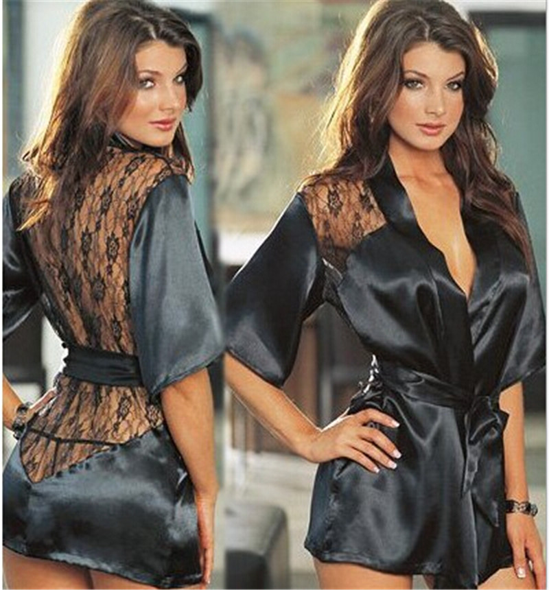 High Quality 2016 Europe and America Women Nightgown Sexy Lace Sleepwear V-Neck Female Embroidery Lingerie(China (Mainland))
