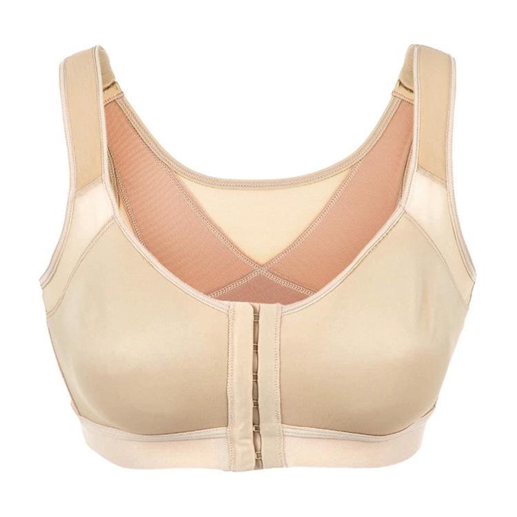 Multifunctional front button ultra-thin wireless underwear sports bra breast reduction Level 3 women underwear(China (Mainland))