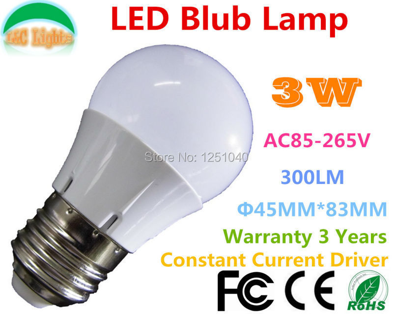 E27 AC85-265V LED Night Light 3W LED Bulbs,300LM indoor lighting home lighting,Wram white/Nature White/Cool White,6PCs a lot(China (Mainland))