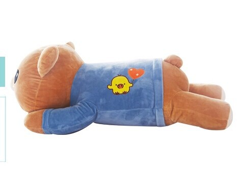 Фотография lovely blue happy bear toy blue clothes easily bear toy cute bear toy gift doll about 75cm