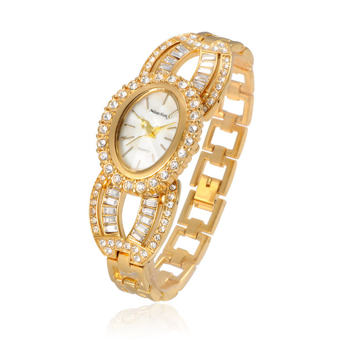 Marry Christmas Women Gift Rhinestone Watches Golden /Rose Gold Quartz Watch Fashion Dress Luxury Wristwatches Wholsale Price  <br><br>Aliexpress