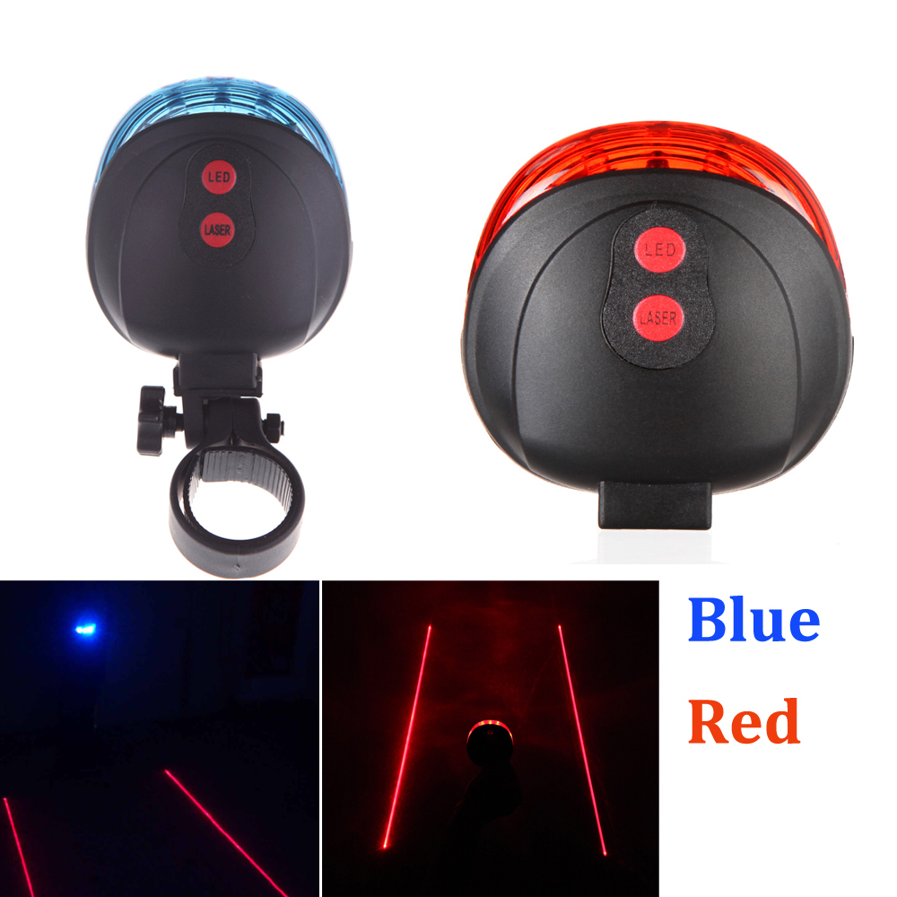 (5LED+2Laser) Bicicleta Mountain Road Bike Bicycle Light Laser Tail Light Cycling Safety Warning Rear Lamp 7 Model Caution(China (Mainland))