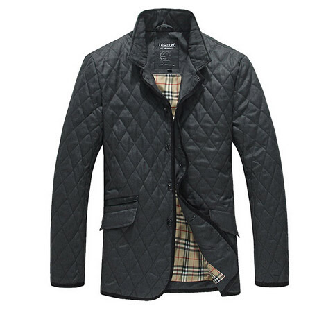 Lesmart Men's Winter New Padded Coat Jacket Stand Collar Fashion Business Casual Diamond Quilting Thicken Warm Outerwear11.11 - Qingdao Textile Co., ltd store