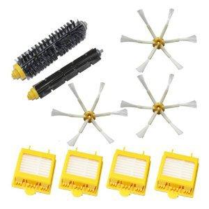 4 HEPA Filter +3 Side Brush Kit + 1 set Bristle Brush set for iRobot Roomba 700 Series Vacuum Cleaner 760 770 780 790 accessory(China (Mainland))