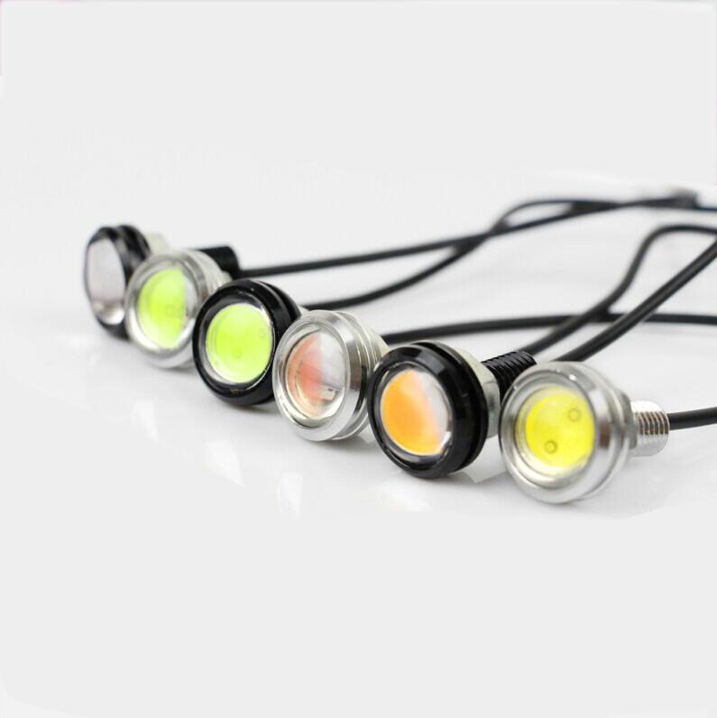 1pcs New 12V Daytime Running LED Lights for All Cars High Bright Waterproof Eagle Eye Car Indicator External Lights Parking <br><br>Aliexpress