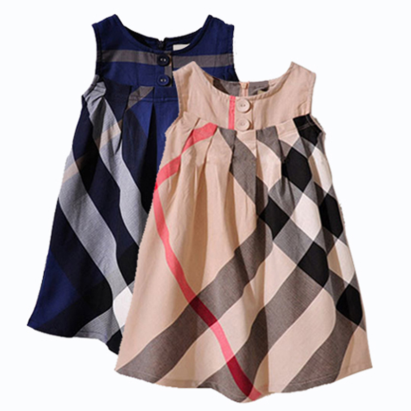 Summer Girls Dress 2016 New Baby Girl Dresses Brand Children Clothing Casual Kids Clothes Sleeveless Vest Dress Vestidos Infant(China (Mainland))