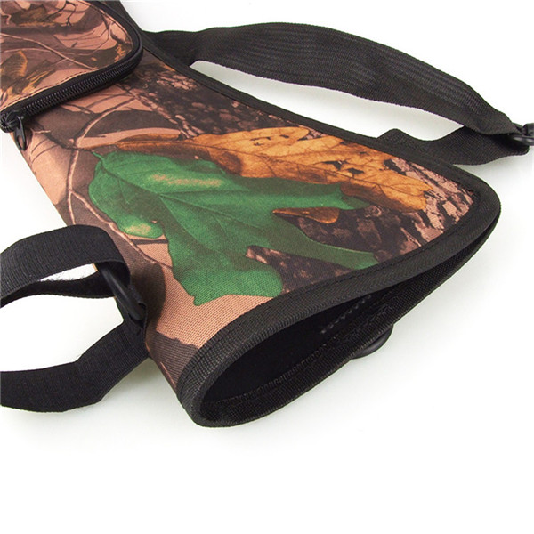 Brand New New Arrival Camo Archery Hunting Bow ARROW BACK SIDE QUIVER Holder Bag w Zipper