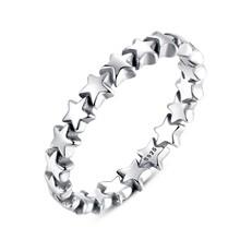 VOROCO รูปดาวจริง 100% 925 แหวน(China)