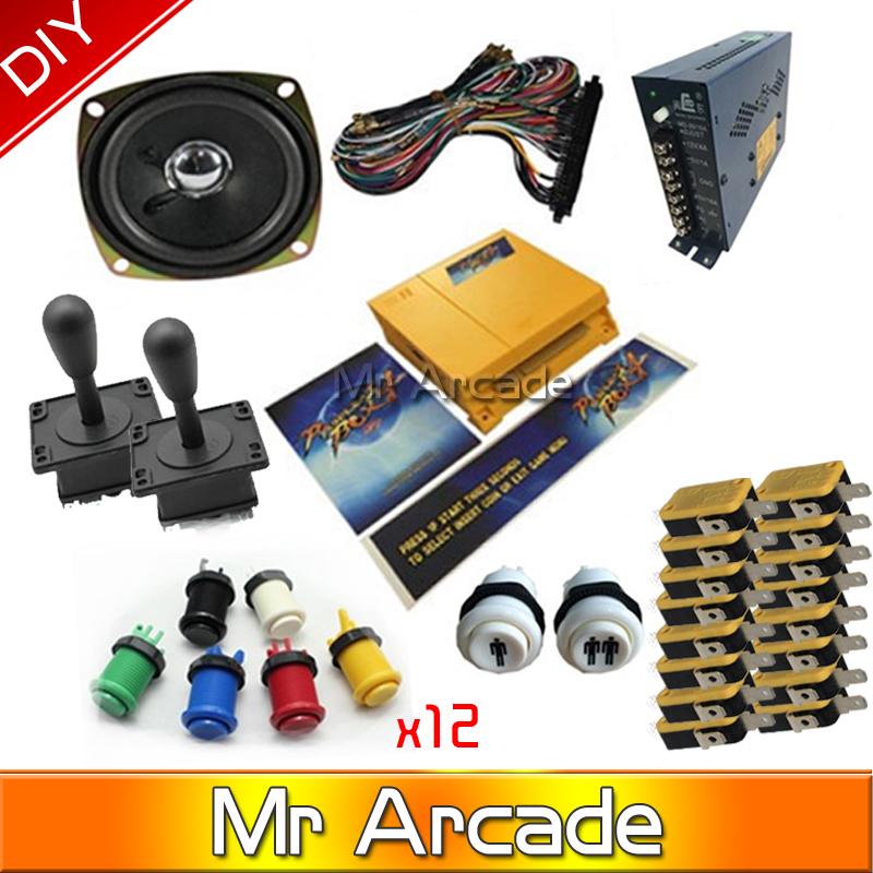 Jamma Arcade game kits with pandora box 4/645in1 game ,Arcade joystick ,Arcade Buttons to DIY arcade game machine or Controller(China (Mainland))