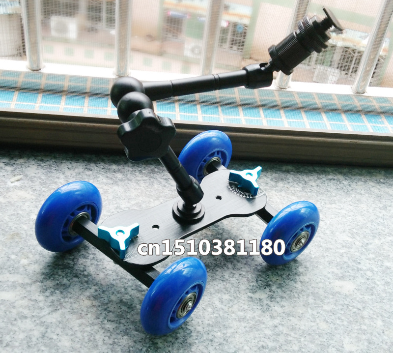 Blue 18 lbs Dolly Kit Skater wheel Truck with 11 inch Articulating Magic Arm Kit(China (Mainland))