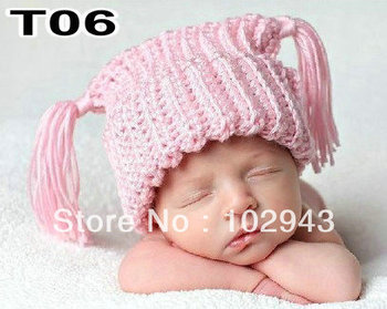 New Arrives!!!100% Cotton Wholesale 30pcs Handmade Crochet Newborn Baby Lovely Hat Excellent for Photo Props