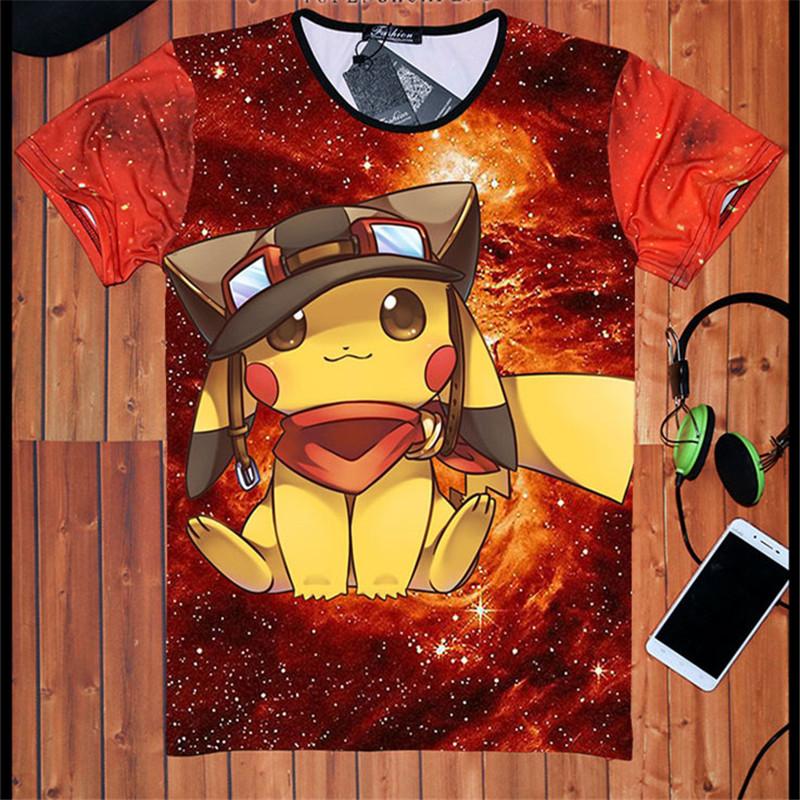 3d t shirts font b Pokemon b font font b GO b font Charmander Pikachu T