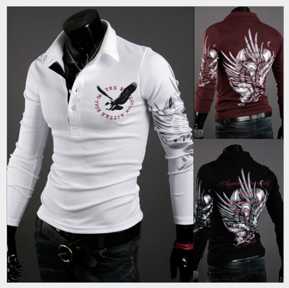 t shirt 2015 New brand Mens T Shirt Men's long Sleeve slim fit men fashion t-shirt plus XXXL - xiaonuo xiao's store