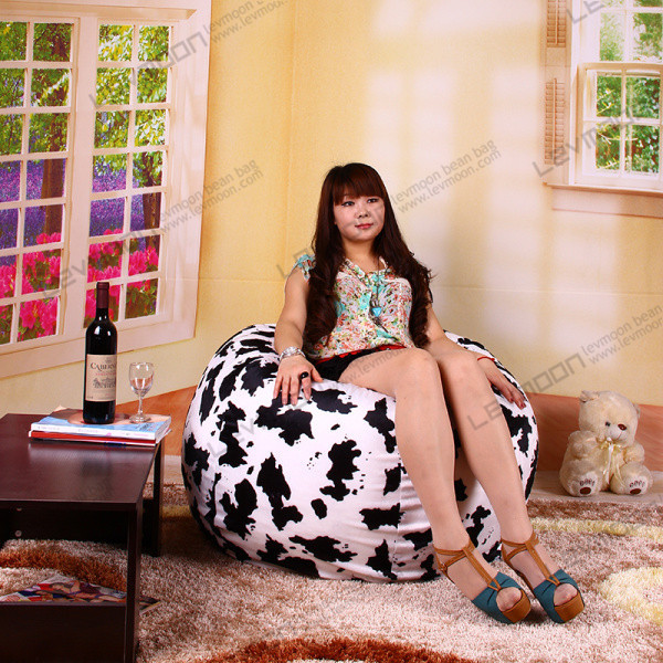 Фотография FREE SHIPPING  Cow grain VELVET INDOOR  bean bags chair sofa shell without filling wholesale online