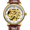 TSS fashion men sapphire watch luxury skeleton luminous watch automatic watches men genuine leather mechanical watches