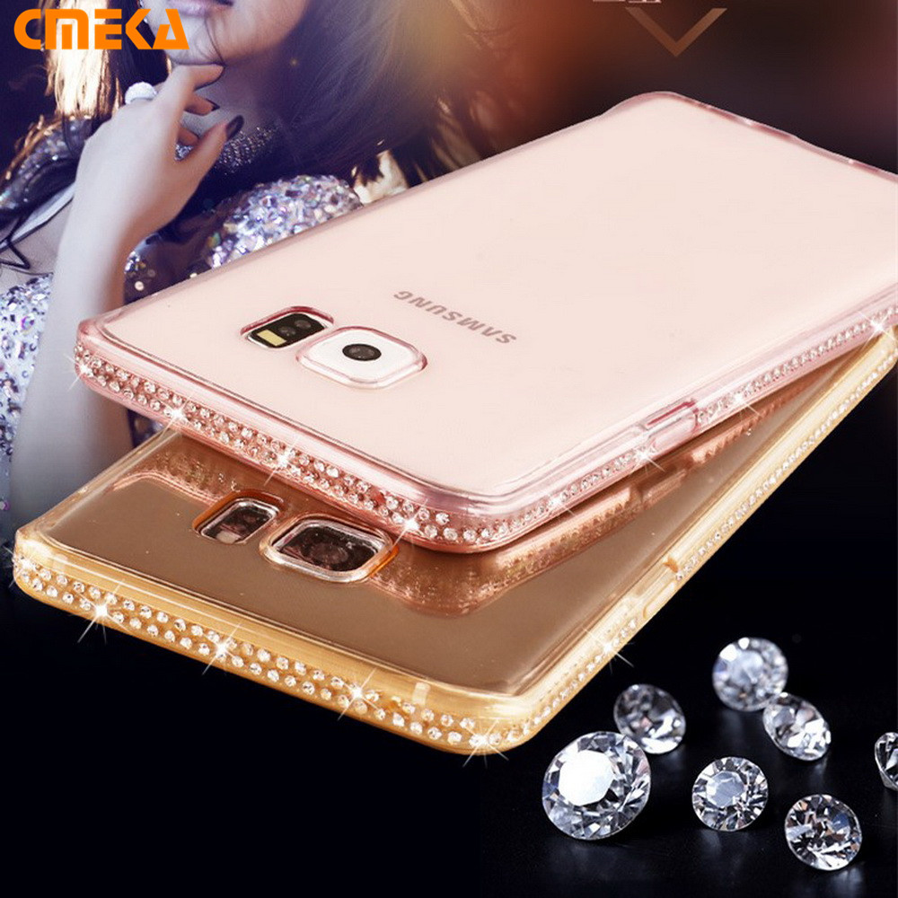 For Samsung A5 2017 A3 A7 Luxury Clear Diamond Design Soft TPU Phone Case Back Case For Samsung Galaxy 2017 A5 A3 A7 2016 Case(China (Mainland))